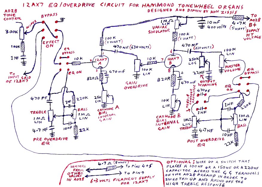 HammondWiki - Kons 12 AX7 based EQ&Overdrive Circuit on
